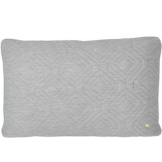Quilt tyyny 60 x 40 cm, vaaleanharmaa