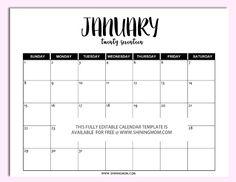 Free editable 2017 calendar in Microsoft Word!                                                                                                                                                                                 More