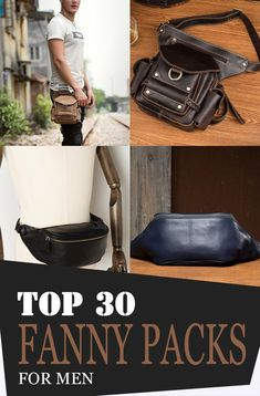 Fanny packs also provide plenty of benefits and advantages. Just like what we've mentioned earlier, they are lightweight, meaning easy to carry! Leather Bum Bags, Leather Fanny Pack, Tan Leather, Leather Purses, One Shoulder Backpack, Side Bags, Mens Style Guide, Denim Bag, Waist Pack
