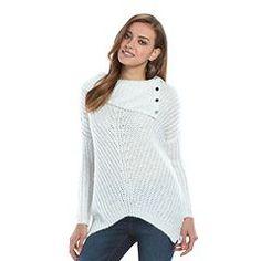 Women's Jennifer Lopez Lurex Cowlneck Sweater