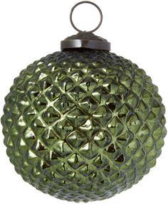 Gilt Home Collection Small Embossed Diamond Ball Ornament