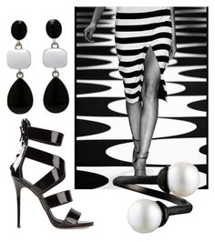 """""""Wave after wave"""" by stefania-fornoni ❤ liked on Polyvore featuring Giuseppe Zanotti and Mercedes-Benz"""