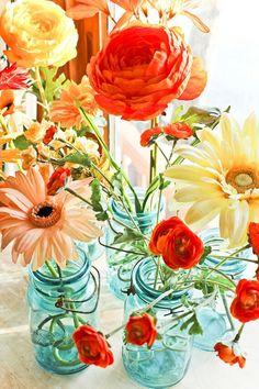 centerpieces color inspiration