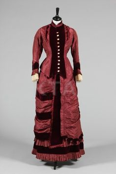 """fashionsfromhistory: """"Day Dress c.1880 Kerry Taylor Auctions """""""