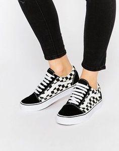 640ffd2878764 Vans Old Skool Sneakers à plateforme à damier noir blanc w 2019 ...