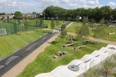 Suppliers of high quality commercial playground equipment and outdoor fitness equipment. Specialists in bespoke solutions for schools parks and gardens. Landscape Plans, Urban Landscape, Landscape Architecture, Landscape Design, Pocket Park, Playground Design, Parking Design, Environmental Design, Parcs