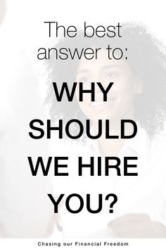 Why should we hire you? The best answer to this job interview question. Resume Advice, Resume Work, Resume Skills, Job Resume, Resume Writing, Job Interview Answers, Job Interview Preparation, Job Interview Tips, Job Hunting Tips