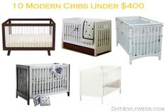 For our baby's nursery, I've been in search of a modern-ish looking crib, something with clean straight lines and a simple design. Affordable Furniture, Funky Furniture, Nursery Furniture, Rustic Furniture, Furniture Ideas, Nursery Twins, Baby Nursery Decor, Baby Bedroom, Nursery Ideas