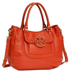 Tory Burch Classic Amanda Orange Satchel. Save 51% on the Tory Burch Classic Amanda Orange Satchel! This satchel is a top 10 member favorite on Tradesy. See how much you can save