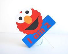 Elmo Centerpiece, I am 2 Centerpiece Elmo inspired - Red and Blue party , do not include cupcake toppers  MariaPalito A477