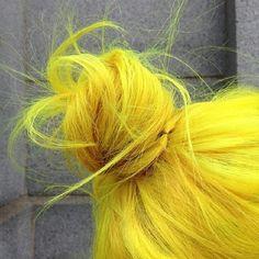 Photo taken by MANIC PANIC - INK361 #prom yellow hairstyles