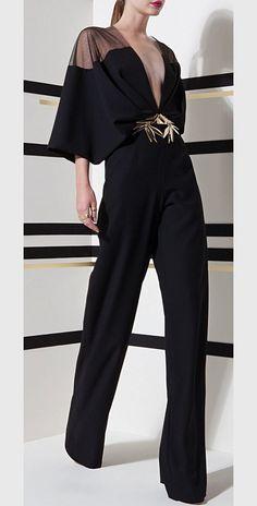 Black jumpsuit by Basil Soda s/s 2016 Love Fashion, High Fashion, Fashion Looks, Womens Fashion, Fashion Design, Fashion Ideas, Mode Lookbook, Best Street Style, Mode Abaya