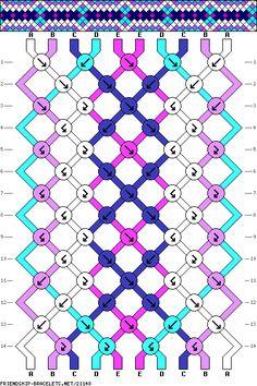FRIENDSHIP BRACELET - 10 strings, 5 colors