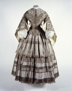 day dress, 1857-60