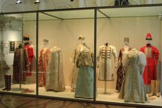 Costumes of 1903 ball on display