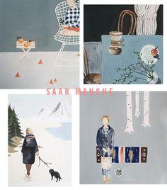 home tour of illustrator saar manche / sfgirlbybay