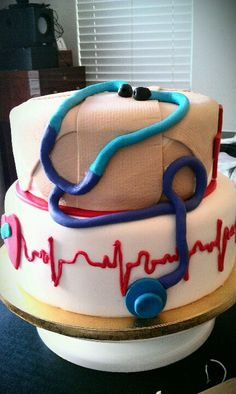 The cake I created for a nursing school graduate:))