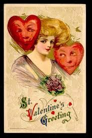 Image result for LARGE SHAMROCK WITH FACE + VICTORIAN VALENTINE