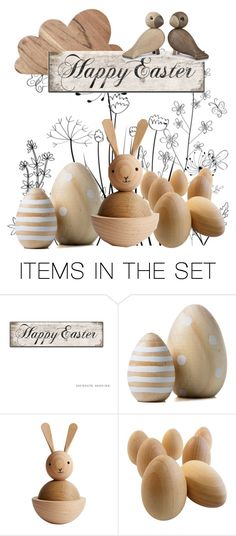 """Happy Easter"" by musettaymimi ❤ liked on Polyvore featuring art"