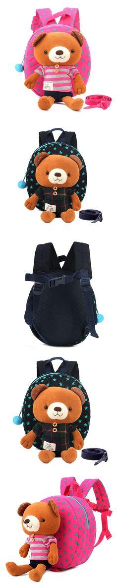 Cartoon Kid School Backpack For Child School Bag For Kindergarten Girl Baby Student School Boy Cute bear Backpack $56