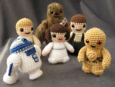 Entre Hilos y Puntadas: Amigurumi star wars & Lord of the ring