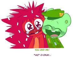 Friend Cartoon, Friend Anime, A Cartoon, Happy Tree Friends Flippy, Happy Friends, Petunias, Steven Universe, Htf Anime, Three Friends