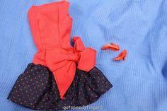 "Vintage Barbie ""Best Bow"" Ken's ""Time to Turn In"" Skirt, Japan Pumps, Beautiful!"