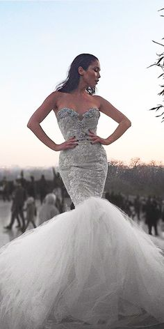 27 Disney Wedding Dresses For Fairy Tale Inspiration ❤ ariel disney wedding dresses mermaid lace strapless sweetheart ryan walter bridal ❤ See more: http://www.weddingforward.com/disney-wedding-dresses/ #wedding #bride