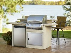 Small Outdoor Kitchens   Build Outdoor Kitchen Grill Small Simple Outdoor Kitchen Island White ...