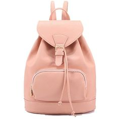 Coofit New Arrival Fashion Women's Leisure School Backpack Pu Leather... (€36) ❤ liked on Polyvore