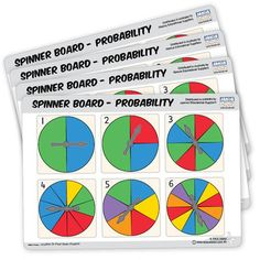 Spinner Board Probability activities engage children to enjoy learning probability Math Manipulatives, Math Resources, Professional Development, Mathematics, Swan, Activities, Education, Learning, Children
