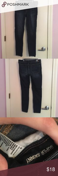 American eagle jeans! Great condition American eagle jeans. Super skinny size 4 American Eagle Outfitters Jeans Skinny