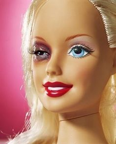 Real Life Barbie...think about the abuse signs you DON'T see