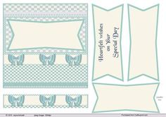 50s style card in Blue and cream by Jayne Amoah This is an A4 Design sheet for a wedding card or baby boy. You can embellish with the approprite embellishment. The design measures 6x6 inches -15.24cm- square.