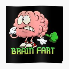 """""""Brain Fart"""" Sticker by arendbotha 