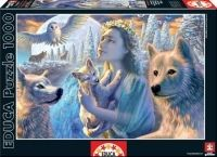 High quality jigsaw puzzle from Educa. Educa offers you the most complete collection of Puzzles for Children and Adults on the market with the best pictures and most entertaining characters. Animal Spirit Guides, Spirit Animal, Wolf Poster, She Wolf, Wolf Spirit, Thing 1, Diy Crystals, Royal College Of Art, Mountain Art