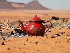 Tea in Desert libya