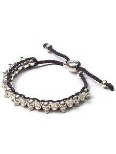 """Links of London Mini """"Skull"""" Gray Friendship Bracelet www.theblush.com"""