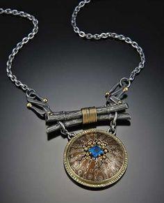 john sartin designs | ... , Gold, Silver and Brazilian Apitite Necklace - John Sartin Designs