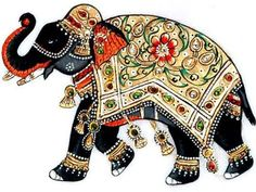 Elephant Design, Elephant Love, Indian Elephant Art, Marble Painting, Fabric Painting, Elephant Illustration, Pintura Country, Animal Drawings, Animal Paintings