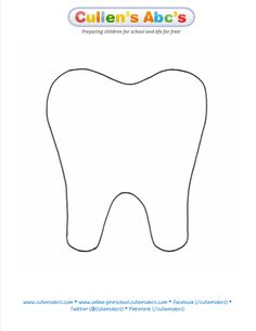 Tooth Pattern | Cullen's Abc's | FREE Online Preschool    http://online-preschool.cullensabcs.com/preschool-days/health-day-1-2/