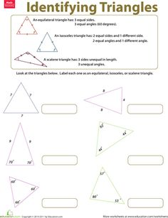 Worksheets: Identifying Triangles