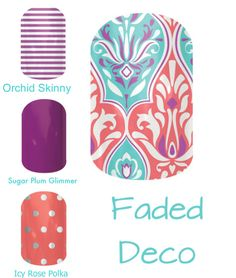 Faded Deco http://annemariecp.jamberry.com/product/faded-deco#.VJpFPxAIAJQ