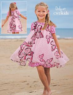 From CWDkids: Butterflies Double Layer Dress