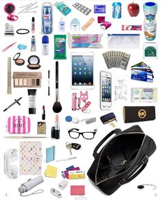 Purse essentials, travel essentials for women, college backpack essentials, Travel Essentials For Women, Packing Tips For Travel, Carry On Bag Essentials, Packing Lists, Road Trip Essentials, Carry On Packing, Travel Hacks, School Backpack Essentials, Locker Essentials