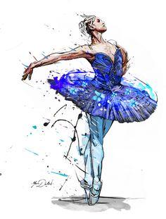 My last painting, Blue Swan.