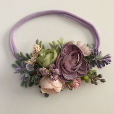 Baby Flower Headbands, Diy Headband, Floral Headbands, Headband Pattern, Ribbon Embroidery Tutorial, Silk Ribbon Embroidery, Embroidery Patterns, Embroidery Supplies, Embroidery Thread