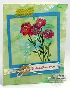 Monet watercolor technique featuring stampin up painted petals stamp set. details on blog