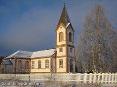La iglesia Kittilä en Kittilä en Laponia, Finlandia