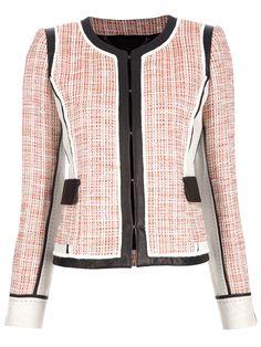 Barbara Bui leather and tweed jacket